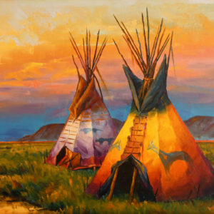 Blackfoot-Sunset-18x36