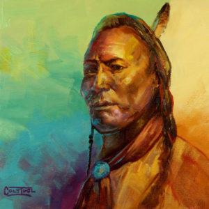 Native-American-Head-Study-6x6-colt-idol